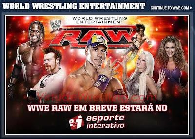 Chamada para estreia da WWE na TV Esporte Interativo.