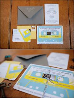 Convite de casamento Vintage