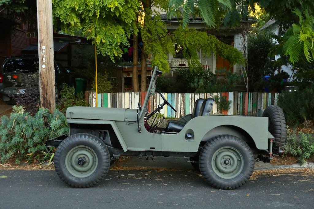 Old Parked Cars 1949 Willys Cj 2a Army Jeep