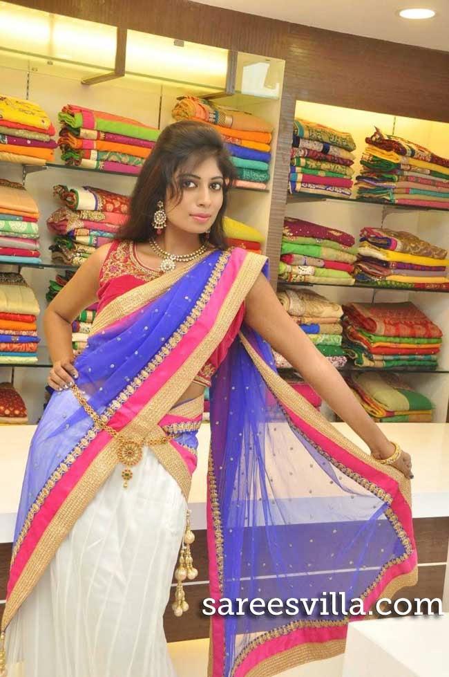 Model Mounika Reddy in Designer Half Saree