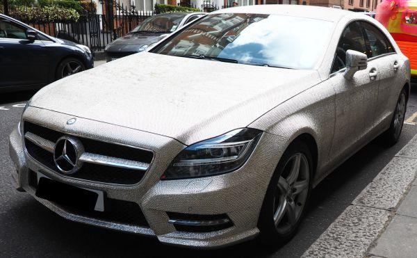 Diamond encrusted Mercedes car