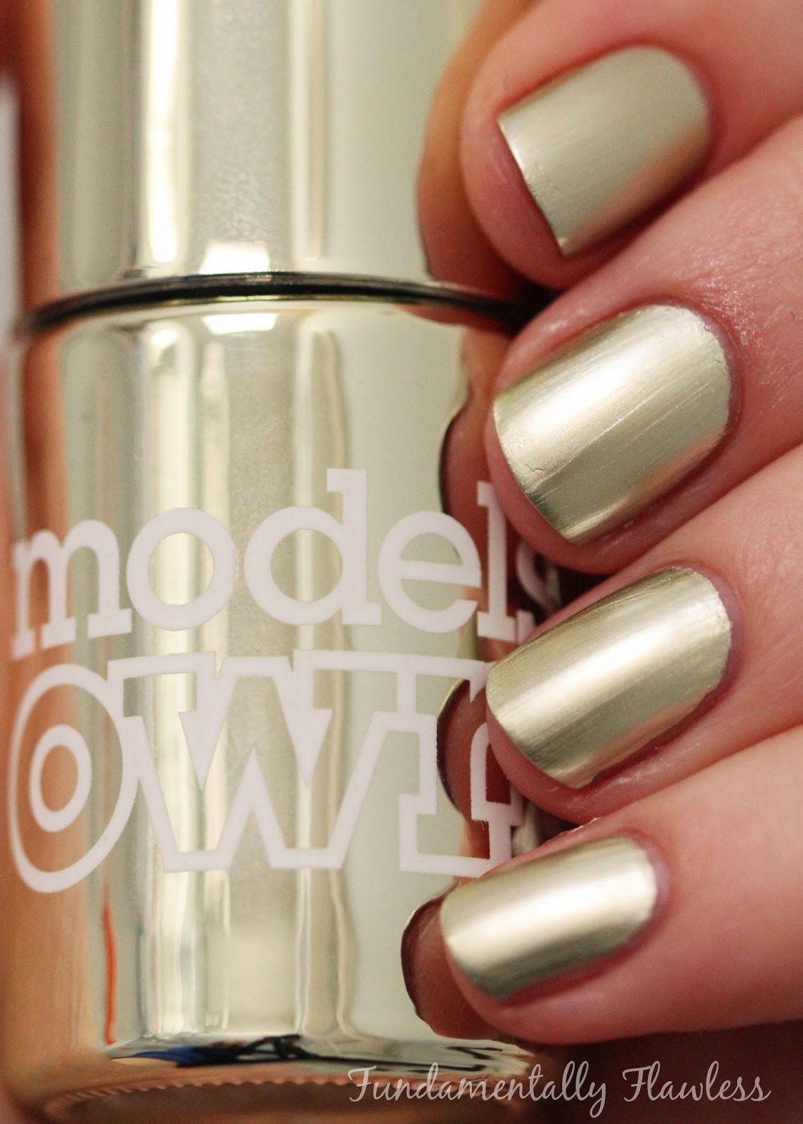Models Own Colour Chrome Collection Olive Swatch
