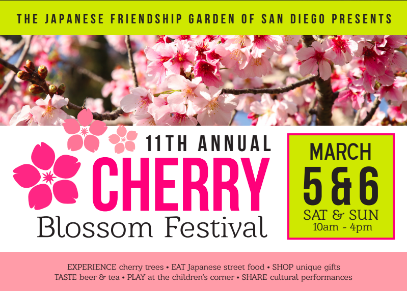 Don't Miss The 11th Annual Cherry Blossom Festival - March 5 & 6