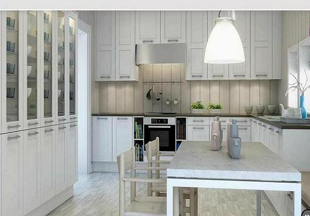 Cocinas de aspecto Moderno con Madera Blanca | Cómo Diseñar Cocinas ...