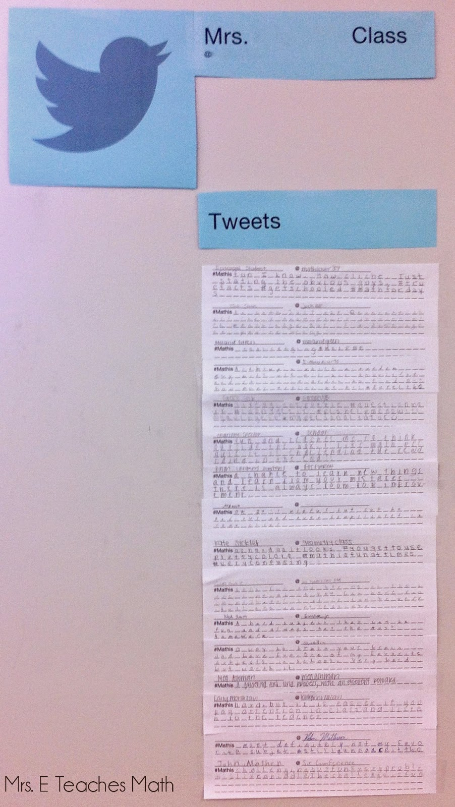... Math: Using Tweets as an Exit Ticket on the First Day of School