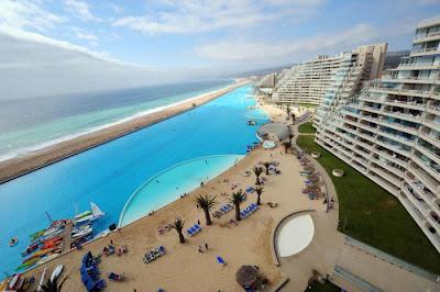 bassein 0016 أكبر و أنقى حمام سباحة في العالم بتكليف خمسة بلاين جنية استرليني  في تشيلي