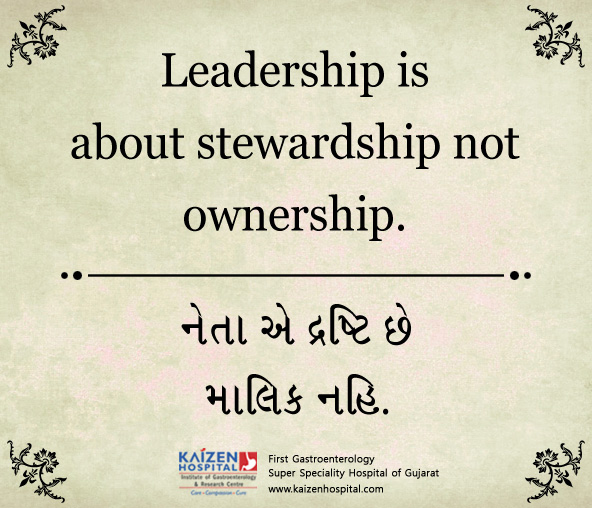 Stewardship Quotes Fair Daily Quotes Kaizen Hospital  Quotes Of Thd Day  Leadership Is