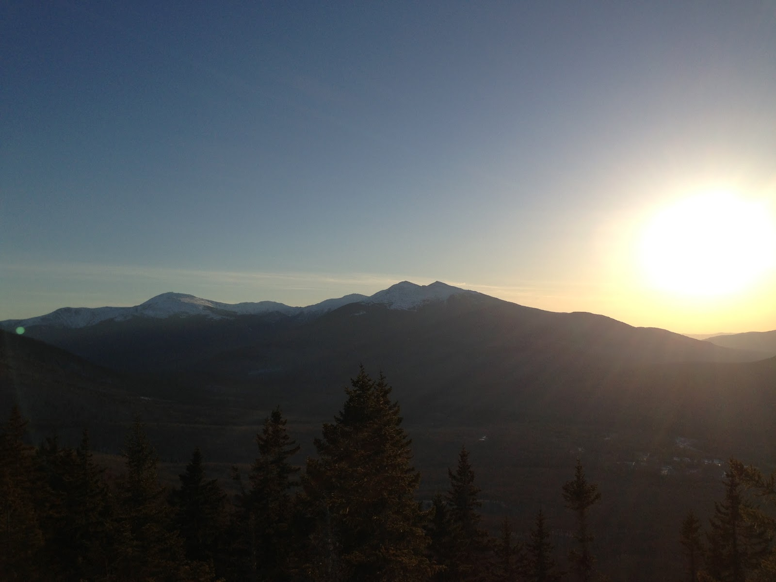 Presidentials before dusk