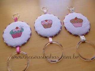 porta pano de prato cupcake ponto cruz
