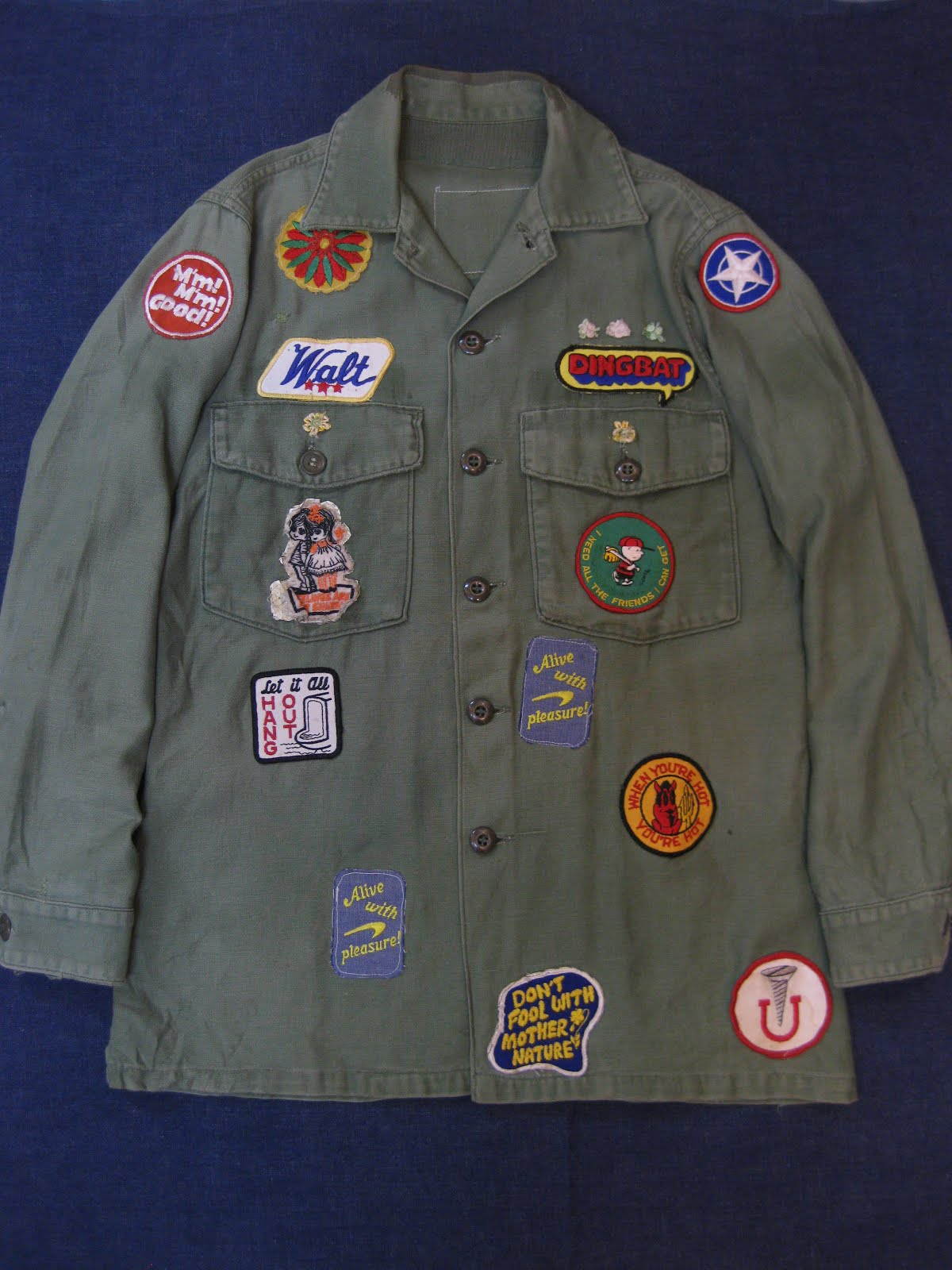 画像①                  70's MANY PATCHES            HIPPIE JACKET