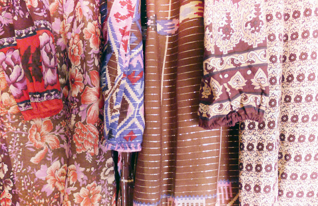 sheer indian cotton ikat dress