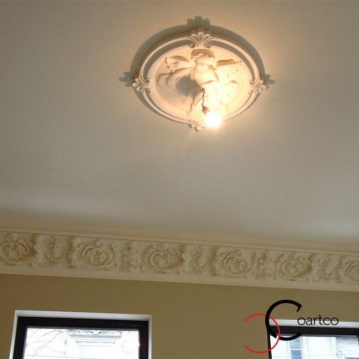 cornisa tavan cu ingeri, personalizata, profile decorative pret, profile decorative polistiren, baghete polistiren