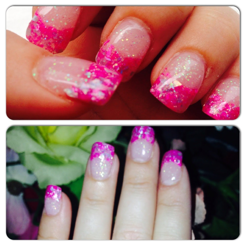 Crushed Seashell Glitter Acrylic Nails Review