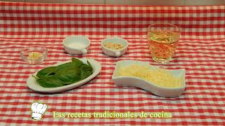 Receta fácil de espaguetis con salsa pesto