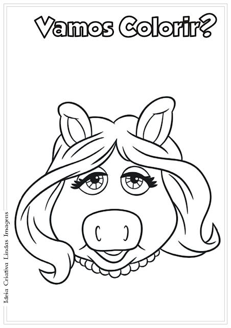 Os Muppets Miss Piggy desenho para colorir