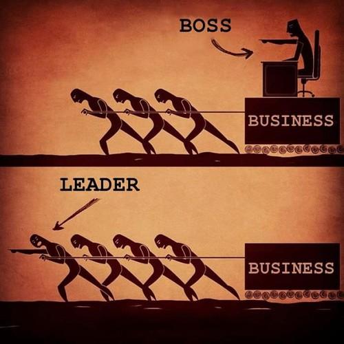 La diferencia entre un jefe y un lider