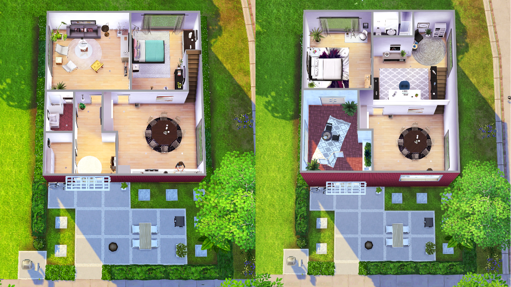 The house of clicks sims 4 houses for Mansion floor plans sims 4