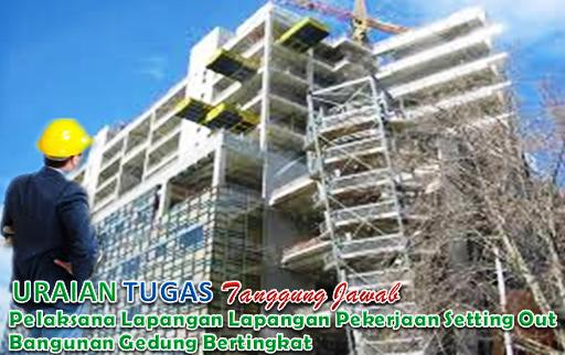Uraian Tugas Dan Tanggungjawab Pelaksana Lapangan Pekerjaan Setting Out Bangunan Gedung Bertingkat.