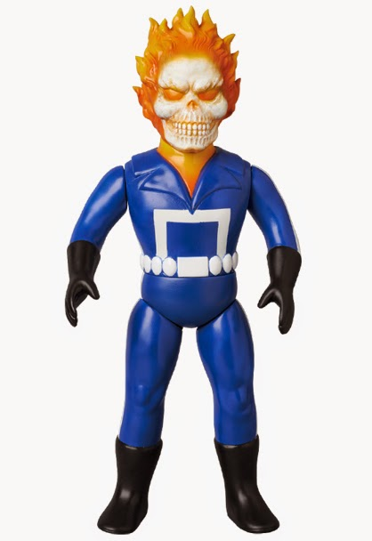 Marvel Retro Sofubi Collection Wave 3 Vinyl Figures by Medicom - Ghost Rider