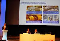Sedan tog Anders Nylander vid rodret och berättade bland annat om hur viktigt innovationer är för ABB och här nästa generation av generatorer och motorer.