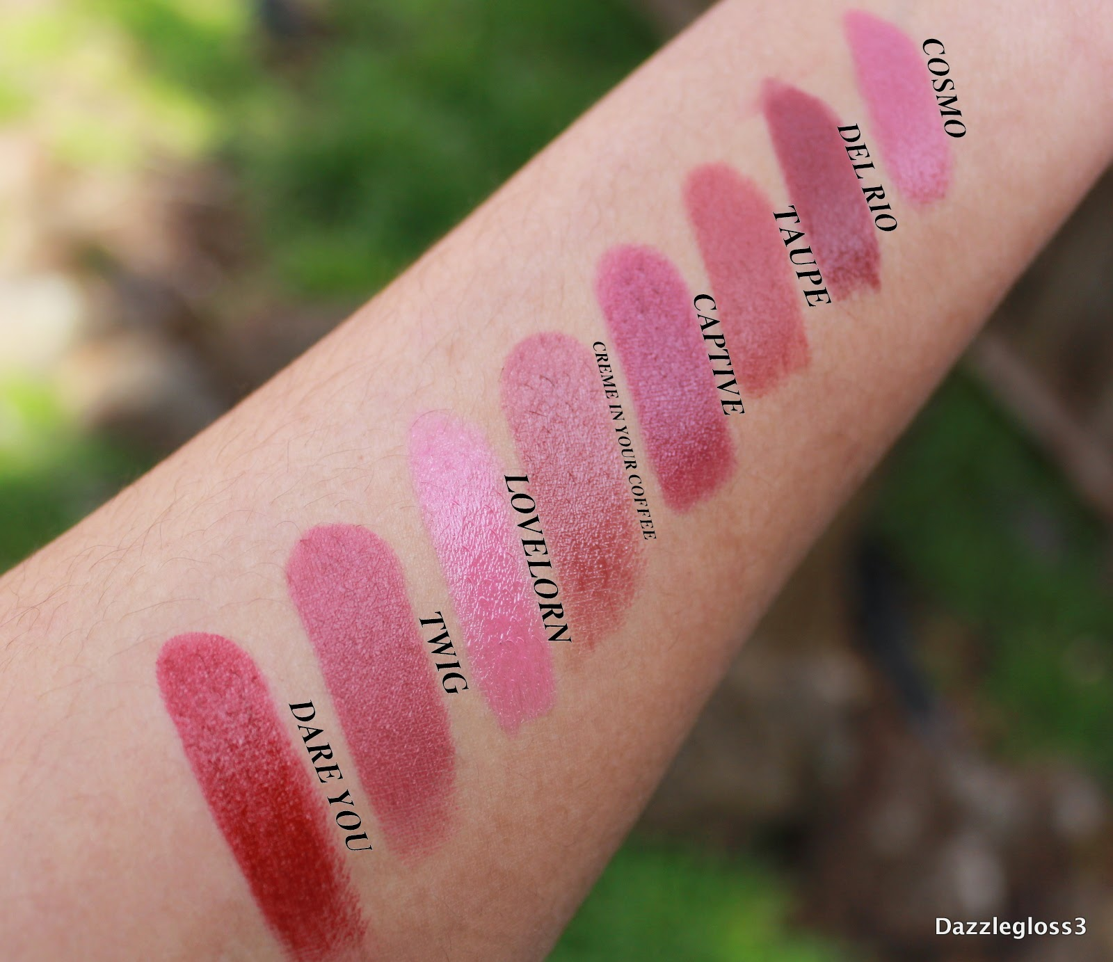dazzlegloss3 mac lipstick collection permanent colours. Black Bedroom Furniture Sets. Home Design Ideas