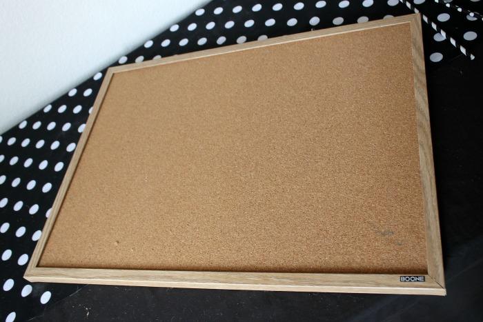 Cork Board Makeover