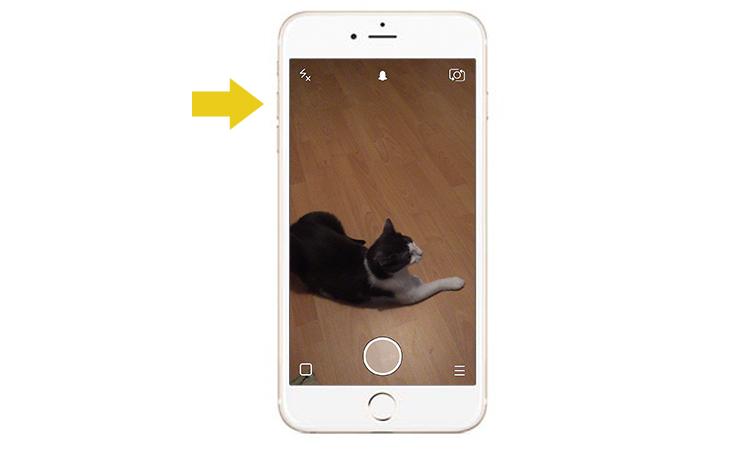 Snapchat – per Lautstärkeknopf aufnehmen