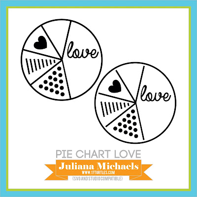 Pie Chart Love Free Digital Cut File by Juliana Michaels