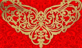 Vector Flourish Gold and Red