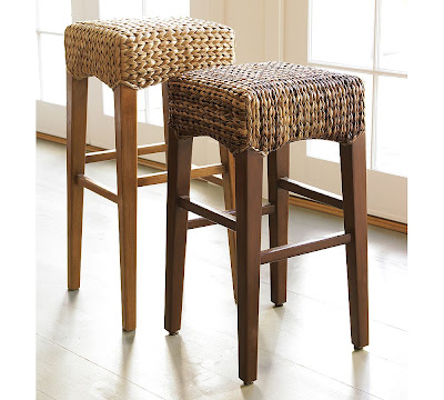 Copy Cat Chic Pottery Barn Seagrass Backless Barstool