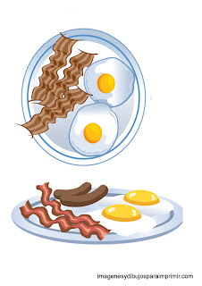 platos de huevos fritos