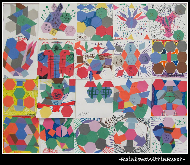 photo of: Kindergarten Art Project combines Math and Art into one Cooperative Mural