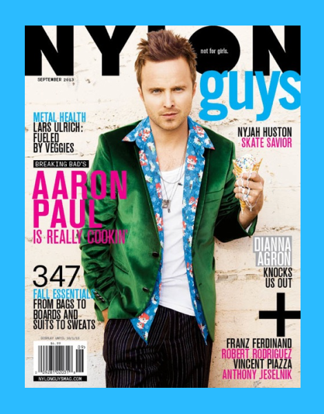Aaron Paul by Kenneth Cappello for Nylon Guys