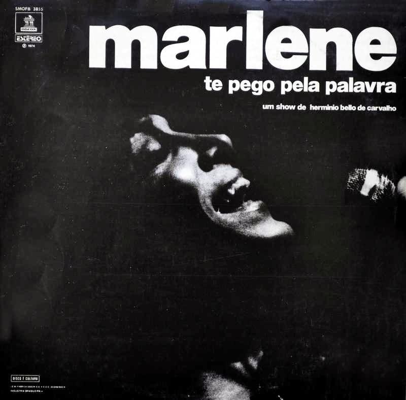 Capa do LP 'Te pego pela palavra' (Odeon/1974)