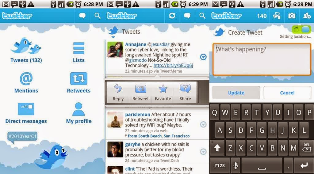 Preview Twitter untuk android | Andromin