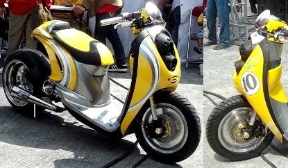 gambar modifikasi motor honda scoopy