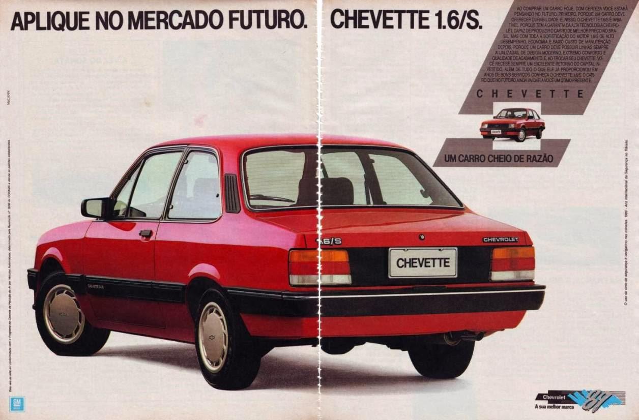Propaganda do Chevette, modelo 1.6 em 1989.