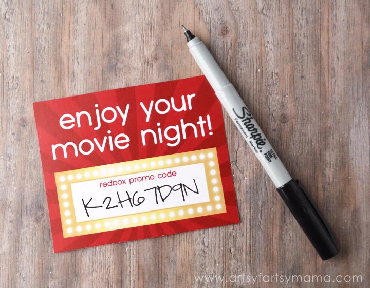 Free Printable Redbox Card at artsyfartsymama.com #giftidea