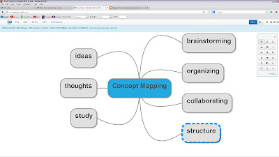 screenshot of MindMup browser-based mindmapping tool
