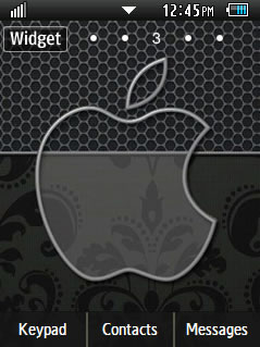 General Latest Black Apple Samsung Corby 2 Theme Wallpaper