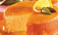 Foto do bolo de laranja feito no liquidificador.