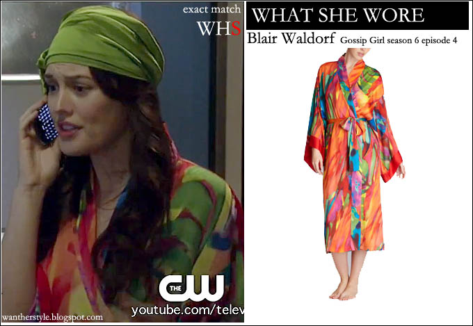 what she wore  blair waldorf in multicolored bright print