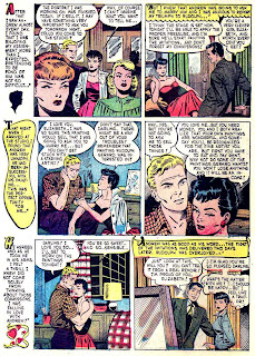Pictorial Romances v1 #9  st. john romance comic book page art by Matt Baker
