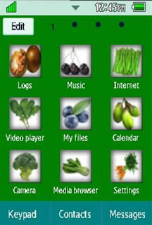 General Healthy, Vegetables, Fruits Samsung Corby 2 Theme Menu