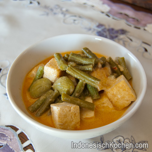 tofu mit schlange bohnen indonesisch kochen rezept