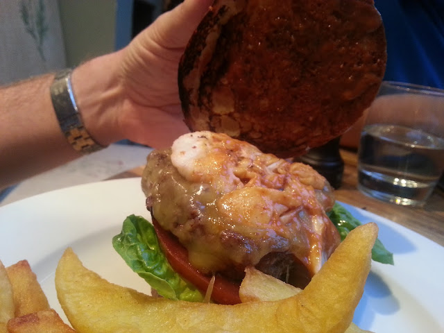 Lobster on the Admiral Codrington burger