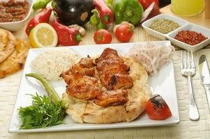 Куриные шашлыки со сметанно-горчичным соусом