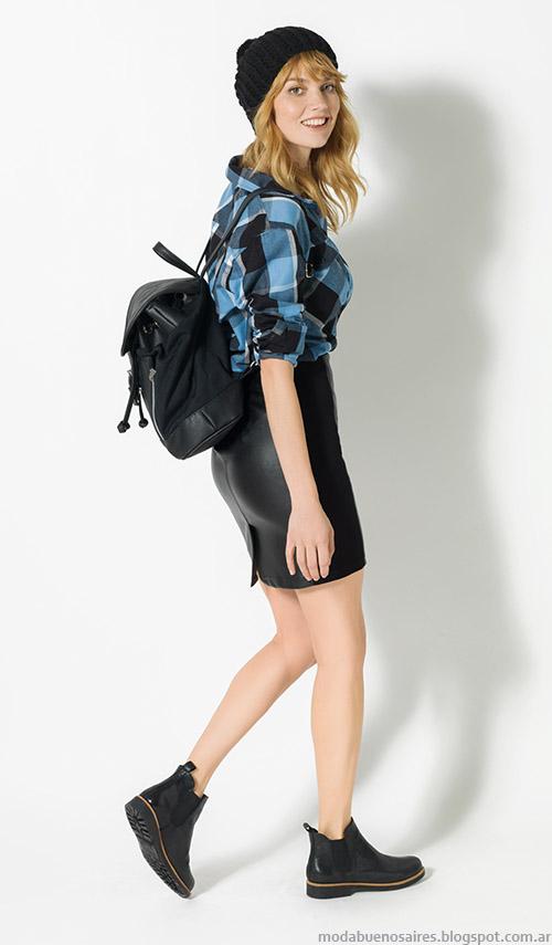 Camisas a cuadros invierno 2015 moda mujer Yagmour.