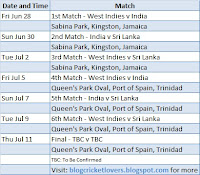 Tri Series- India, West Indies and Sri Lanka Jun- Jul 2013