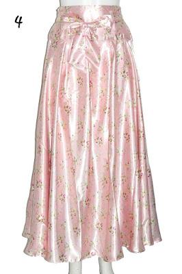 Model Rok Payung Satin Motif Floral